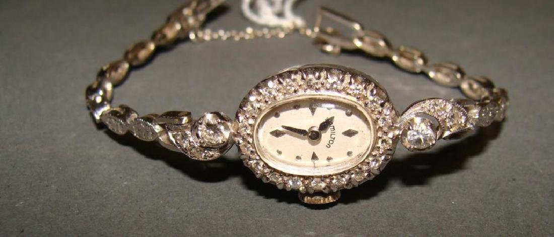 14kt White Gold Ladies Watch and 14Kt Band