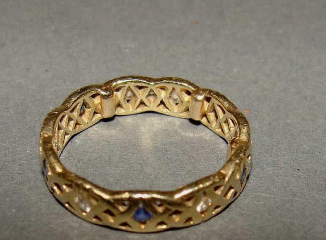 14kt Gold, Sapphire & Diamond Circle Band