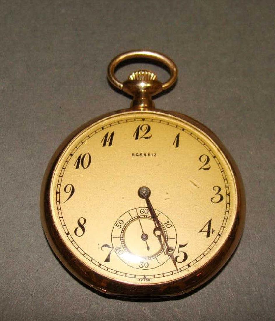 14kt Gold Men's Agassiz Pocket Watch