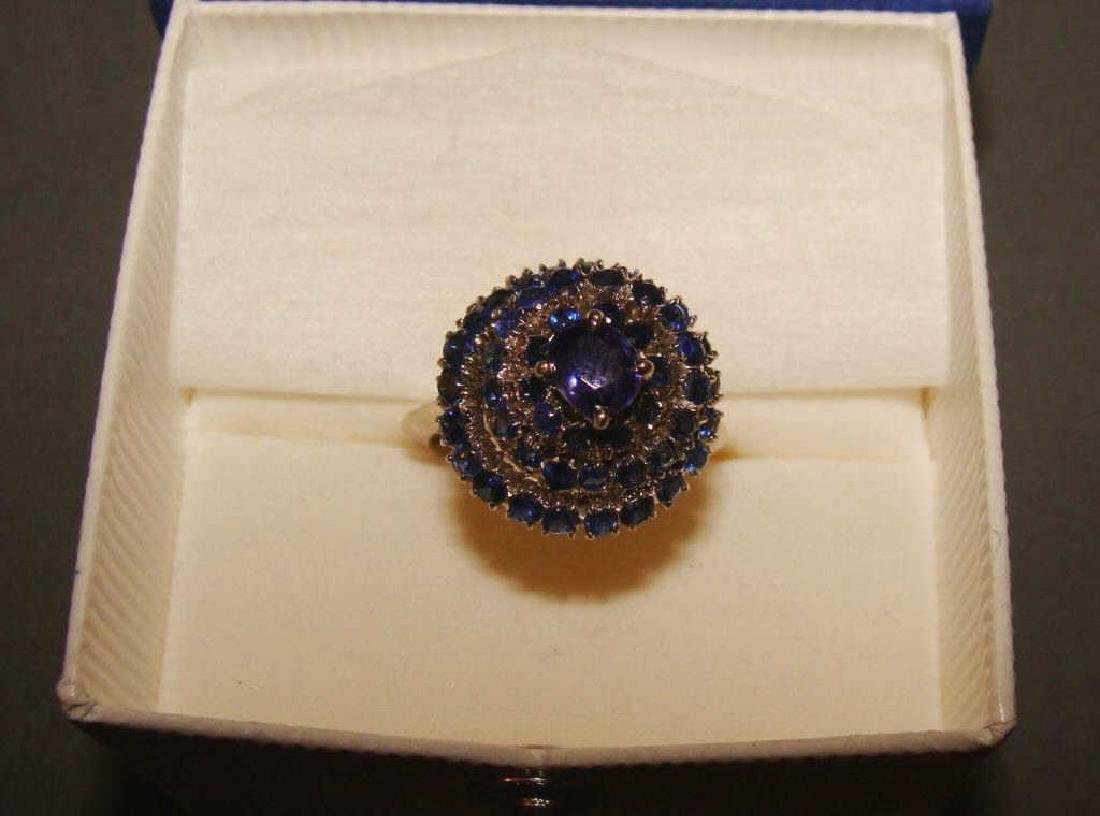 14kt White Gold and Sapphire Dinner Ring