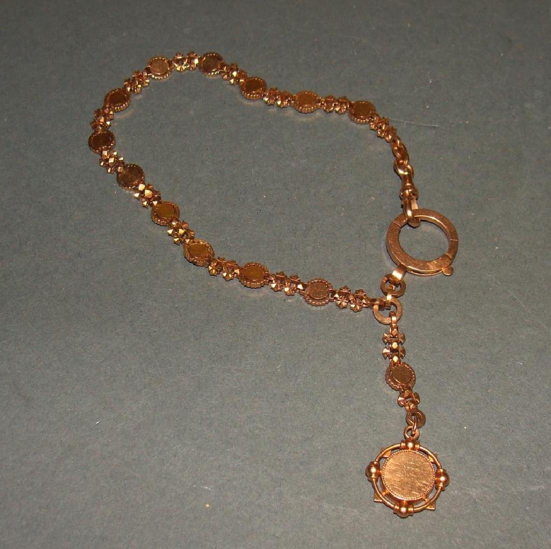 18kt Gold Victorian Watch Fob with Seed Pearls
