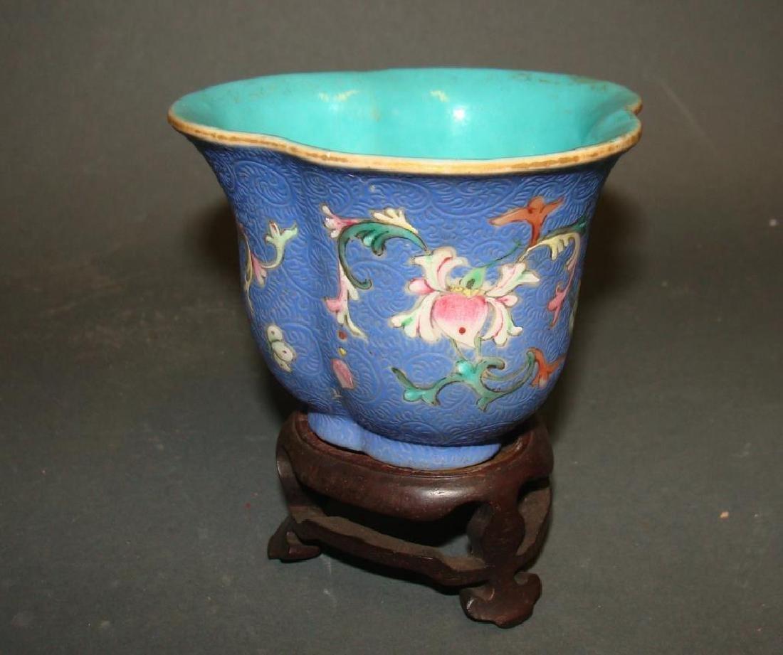 Chinese Scholar's Bowl w/ Original Stand