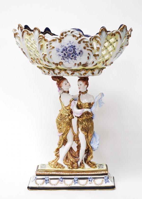 1D: Blue and White Dresden Porcelain Vase