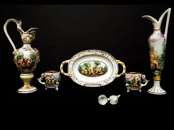5: Collection of Capodimonte Italian Porcelain
