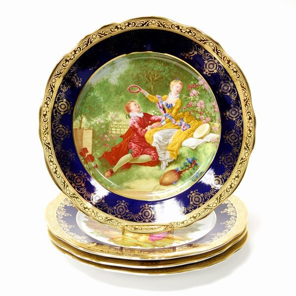 8: Four Plates from the Limoges Assiette de Collection