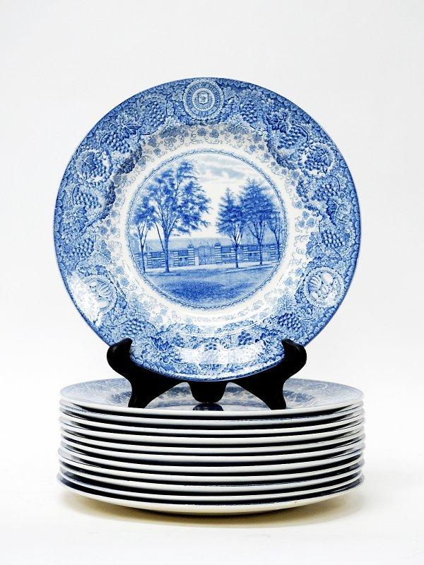 9: Twelve Blue and White Wedgwood Plates 1928