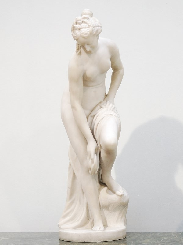 20: Marble Sculpture of a Nude Female signed Allegris