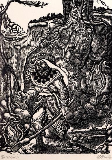 9:ANGEL BRACHO (1911-2005) The Huichol, Signed