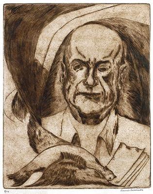 10: RAMON SOSAMONTES Portrait of Neruda, Etching Signed