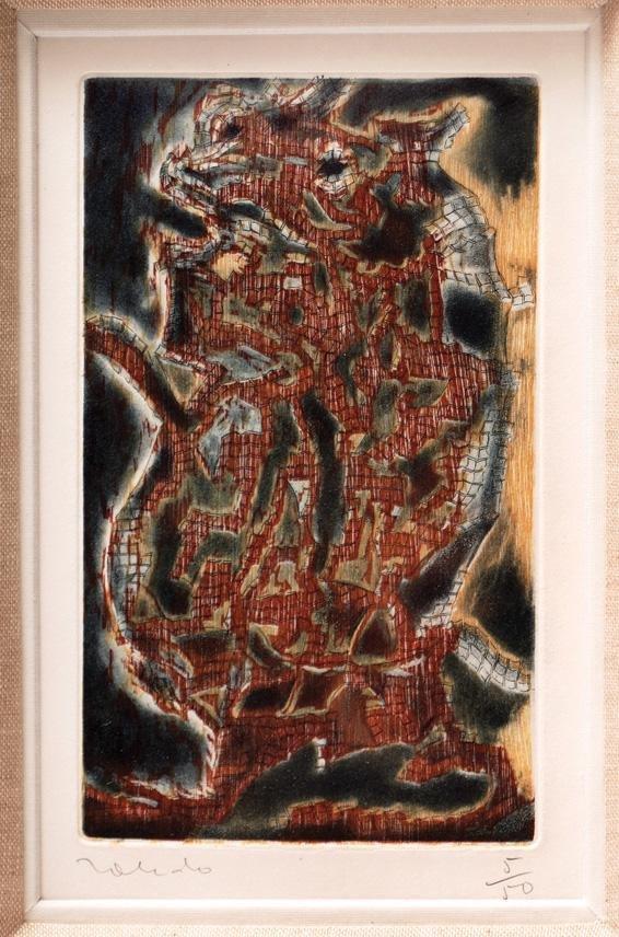 11: FRANCISCO TOLEDO (1940- ) Etching  Animal que se pe