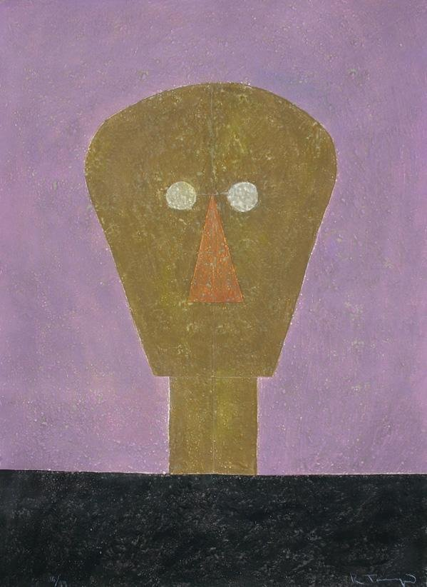 13: RUFINO TAMAYO (1899-1991) Cabeza sobre fondo rosa
