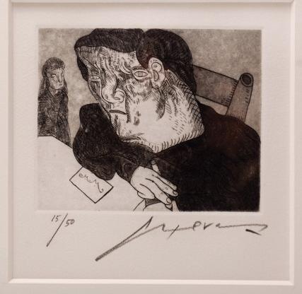 15: JOSÉ LUIS CUEVAS (1934- ) Personaje Etching