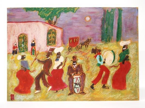 17: Octavio Rojo, Candomble Dancing, Mixed Media