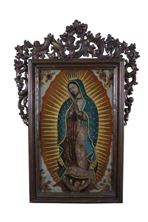 23: SPANISH COLONIAL Our Lady of Guadalupe