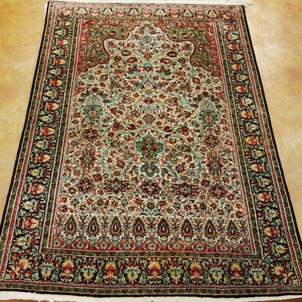 1: Persian Qum Rug 100% Silk Width 3 ft 4 in