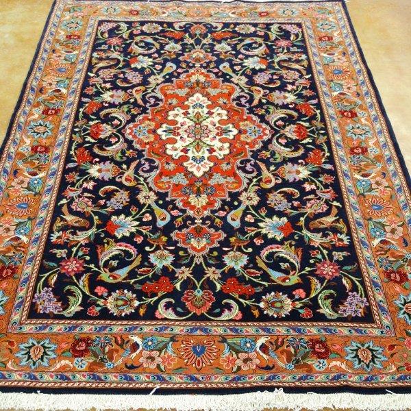 2: Persian Qum Wool Rug Width 4 ft 6 in; length 7 ft
