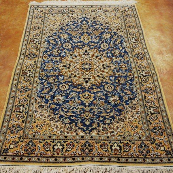 4: Persian Nain Silk & Wool Rug Width 3 ft 4 in; length