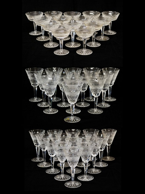 18: 43 Stems of Waterford Crystal including Goblets and