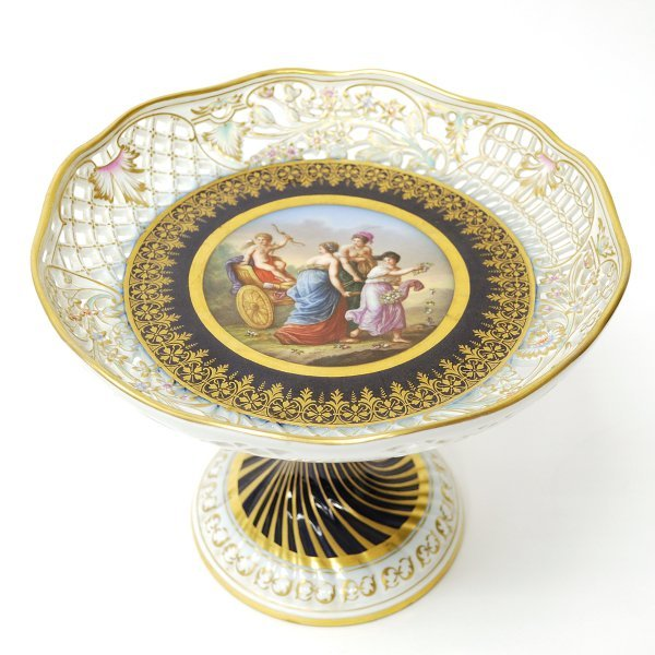 20: Meissen Gilded and Decorated Porcelain Compote