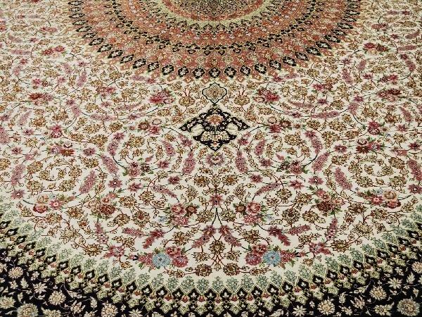5: Silk Qum Carpet Central Persia Circa 1990 New