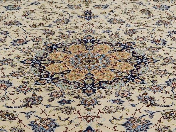 """6: Esfahan Carpet Central Persia Circa 1950 Signed """"Ira"""
