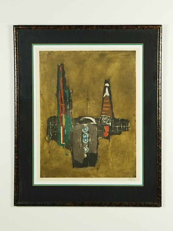 6: Johnny Friedlaender Composition Print, Etching and A