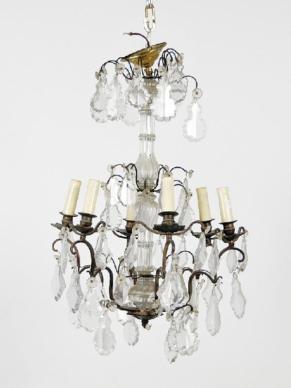 17: Maria Theresa Crystal Six-Light Chandelier Height 2
