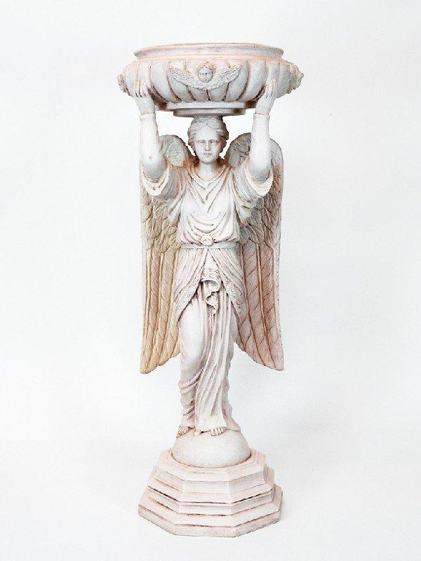 2: Angel Motif Birdbath Height 31.5 in; width 12 in'; d
