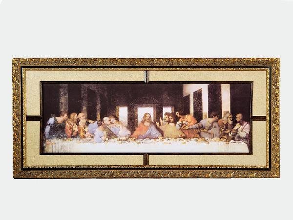 6: Framed Print, 'The Last Supper' Height 31.5 in; widt