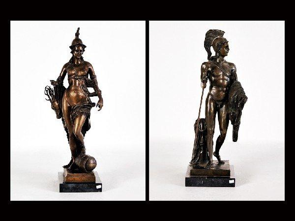 22: Bronze God and Goddess Sculpture, Signed H. Gerhard