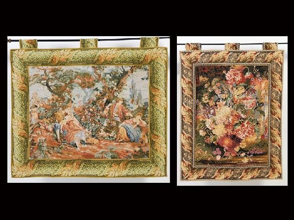 1: Pair of Needlepoint Hanging Tapestries ( Only one in