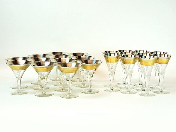 14: Set of Ten Dorothy C. Thorpe Marked Gold and Platin