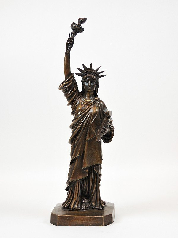 17: Bronze Statue of Liberty Height 18 in; width 5.25 i