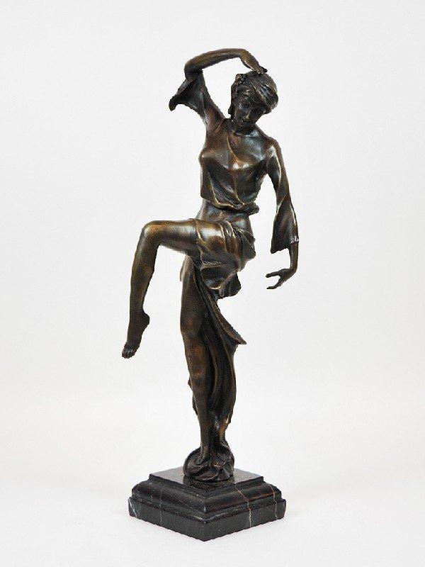 18: Bronze Dancing Female Figure Height 17 in; width 4