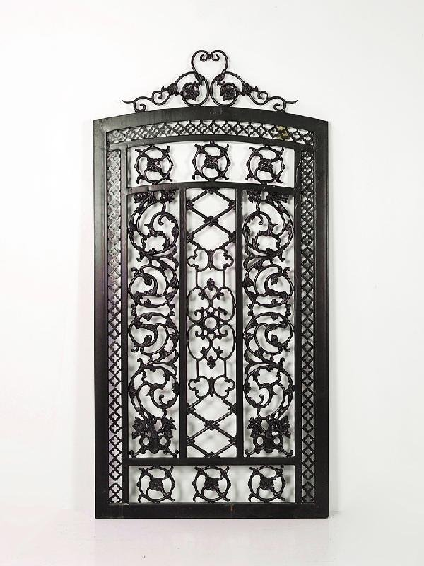 44: Heavy Cast Iron Entrance Gate with Scroll Detailing