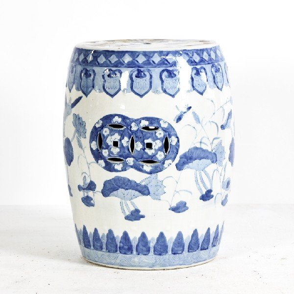 7: Blue and White Chinese Ceramic Garden Seat