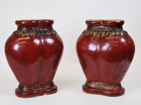 """5: Pair of Ceramic """"Corazon"""" Vases"""