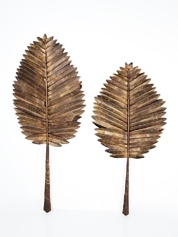 11: Pair of Metal Palm Leaves