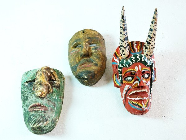 3: Mexican Tribal Dance Masks