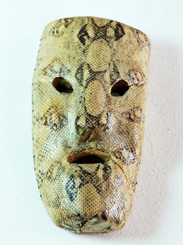 12: Mexican Snake Skin Covered Mask