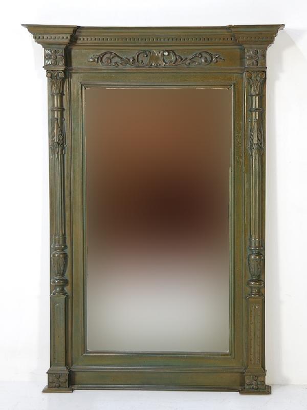 20: Painted Wood Beveled Mirror