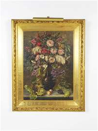 23: Signed L. Hennoff 1887 Still Life with Bouquet