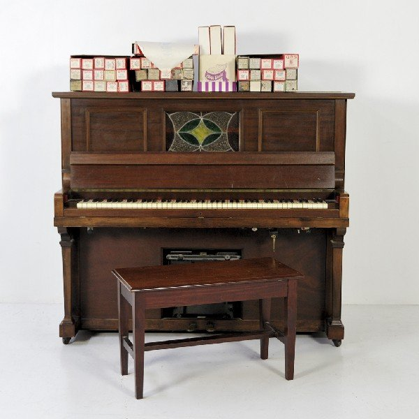191: Player Piano Marked E. Price & Sons with Piano Sto
