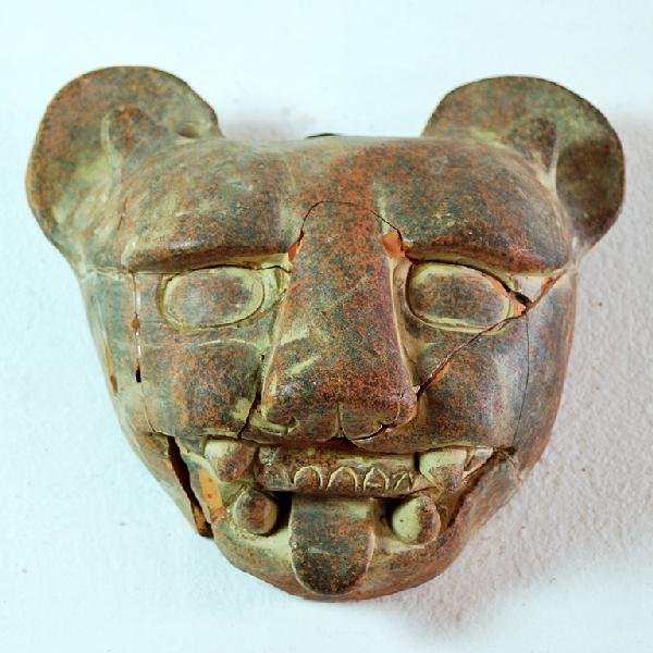 3: Repaired Clay Mask, Possibly Pre-Columbian