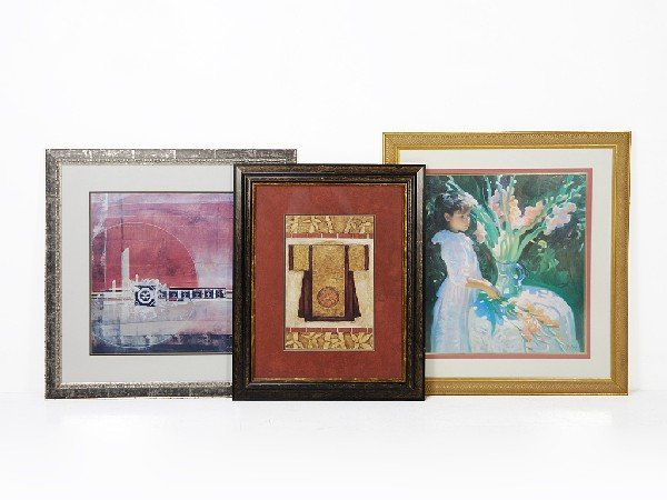 5: Group of Miscellaneous Decorative Framed Prints