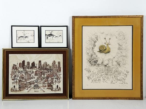 6: Group of Miscellaneous Art; Including a Commemorativ