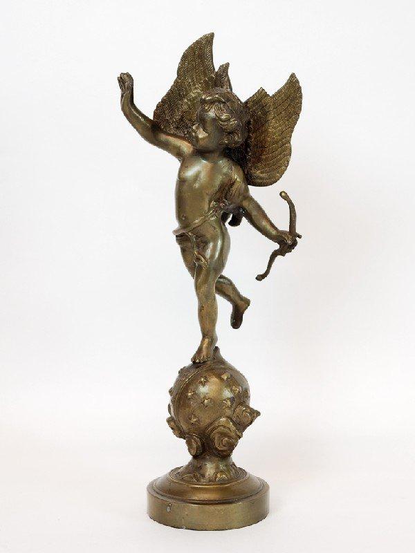 5: Playful Bronze Angel Balancing on a Ball