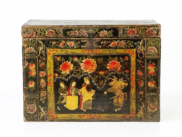 20: A CHINESE CARVED TRUNK Nineteenth Century