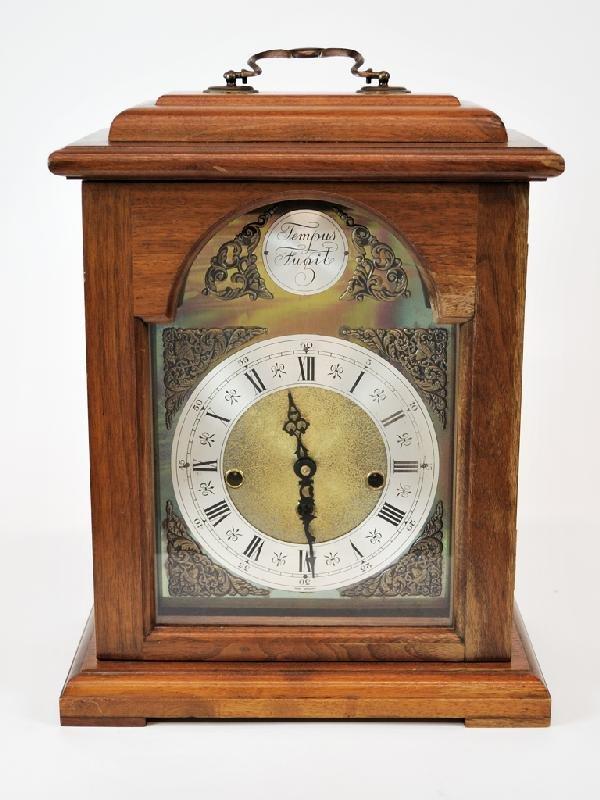 2: 1950 West Germany Walnut Clock, Chimes and strikes,
