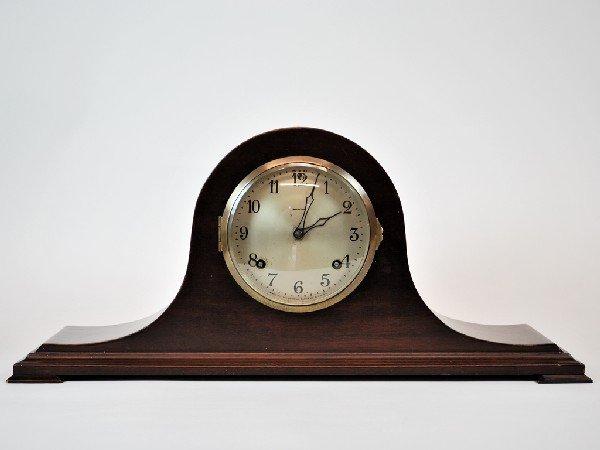 4: 1929 Ansonia Working Mahogany Mantel Clock, Strikes